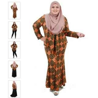 Kebaya Cardigan Raya Plus Size 5xl