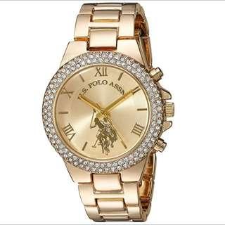 U.s Polo Women's Quartz Watch Gold-Toned USC40032