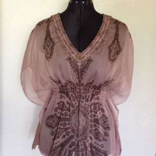 'Just Jeans' Dusty Pink Top - Size10
