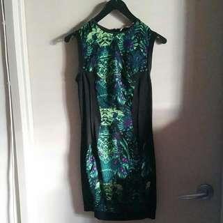 Sleeveless Dress Floral Print