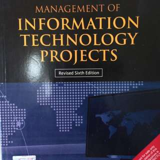 Management Of Information Technology Projects