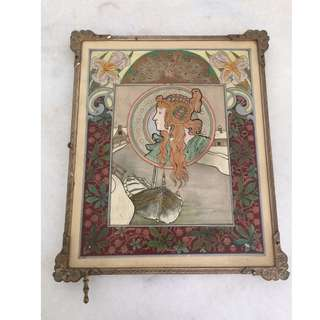 RARE & ONE OF A KIND Folding Travel Mirror. Antique Tri Fold Vanity Mirror. French Boudoir Decor.