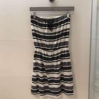 GAP 條紋平口連身裙