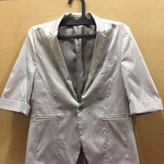 Blazer Pria Warna Silver ( Outerwear )