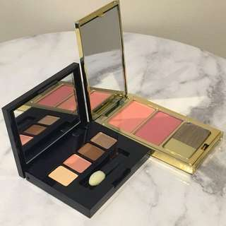 Estēe Lauder travel sized blusher and eye shadow palette