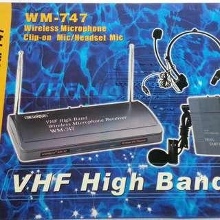 Scandyna VHF High Band Wireless Clip-on Mic/Headset Mic WM-747