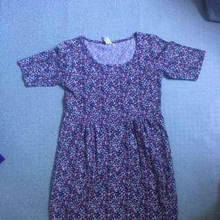 Printed Empire Cut Dress