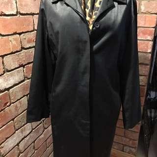 Black Jacqui E Long Jacket (knee Length)