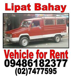 Lipat bahay Condo Gamit Vehicle for rent