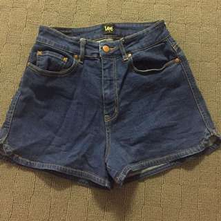 Lee Denim Shorts Highwaist Glue General Pants