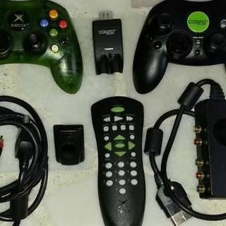 1st Generation Xbox Controllers, AV Cable, DVD Playback Kit