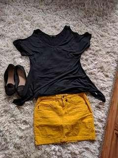 Loose shirt black