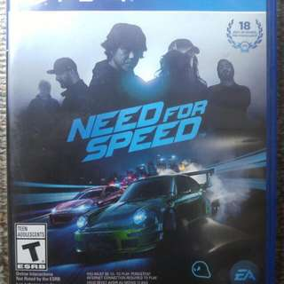 NEED FOR SPEED 2015 /NFS 2015 (PS4)