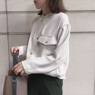 淺灰文青襯衫