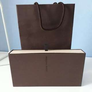 Authentic Louis Vuitton Long Drawer Box With Paperbag Set