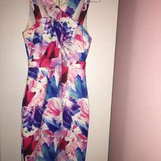 Ally Fashion Geometric Floral Bodycon Minidress