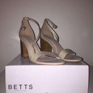 Betts Nude Block Heels