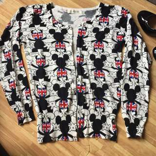 Mickey Cardigan Buttonless