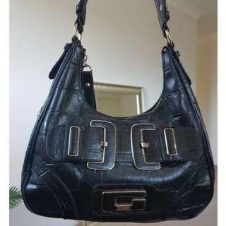 Guess Black Leather Handbag