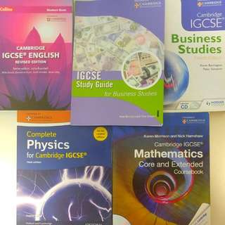 Textbooks: IGCSE, O Levels, Primary 3 And Secondary 2, 3 And 4