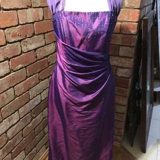 Mr K Silk Look Size 14 Evening Dress
