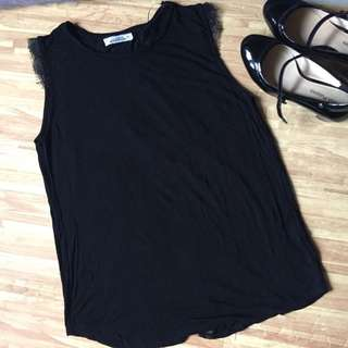 Pull N Bear Sleeveless Blouse With Open Back