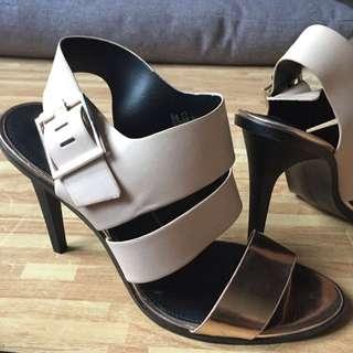 Zara Trafaluc Size 39 Beige N Rose Gold Accent