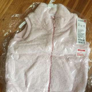 BRAND NEW Uniqlo Toddler Girls Pink Vest (size: 90cm)
