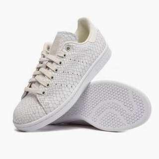 Adidas Stan Smith Sneakers Snake Skin Off White