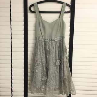 Pale Grey Spagetti Baby Doll Dress