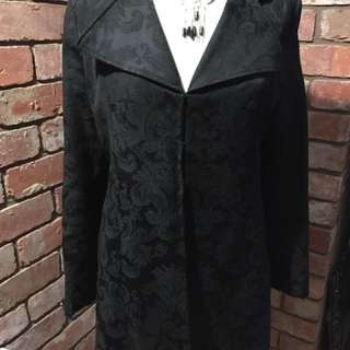 Black Paisley Jacket Size 10