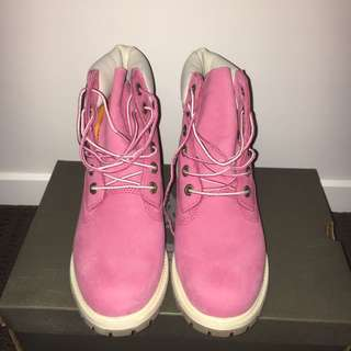 Authentic Pink Timberlands