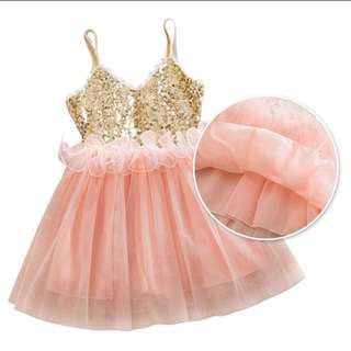 Princess Girls Sequins Sundress Dress