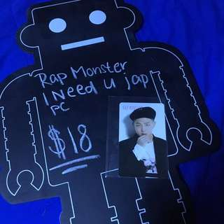 BTS Rap Monster I Need U Jap Photocard