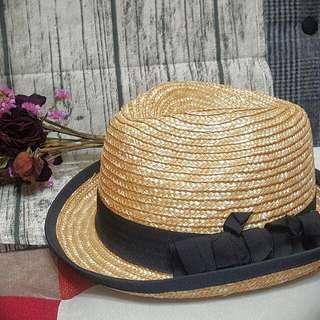 日系編織竹藤紳士帽