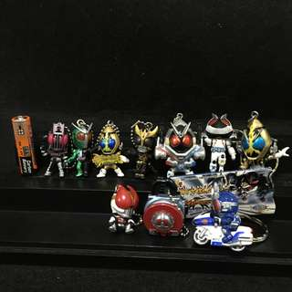 AUTHENTIC MASK RIDER AND OTHER KEYRINGS