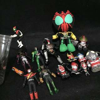 AUTHENTIC MASK RIDER AND OTHER ITEMS