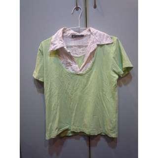 Hang Ten綠白短衫