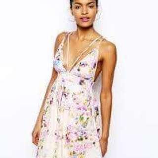 Floral Pink Oh My Love Skater Dress
