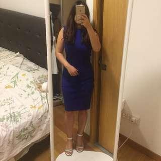 Zalora Sheath Blue Dress
