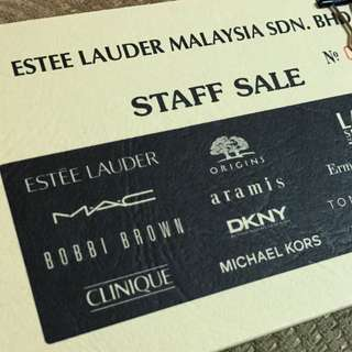 Estee Lauder - Staff Sale