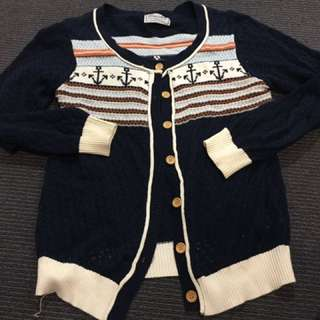 Nautical Knitted Cardigan