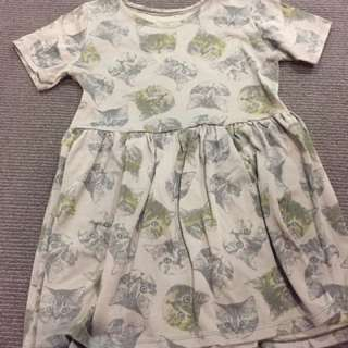 Babydoll Cat Print Dress