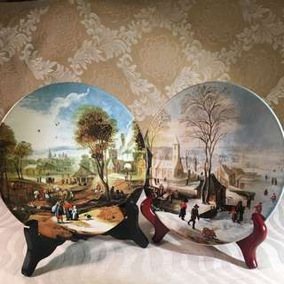 Vintage Decorative Scenic Wall Plates