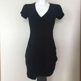 BRAND NEW Size 8 Black Wrap Dress