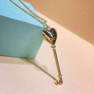 Tiffany & Co. Key Pendant with Necklace