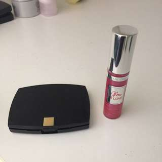 Lancôme Eyeshadow Mini Palette And Mini Lipgloss