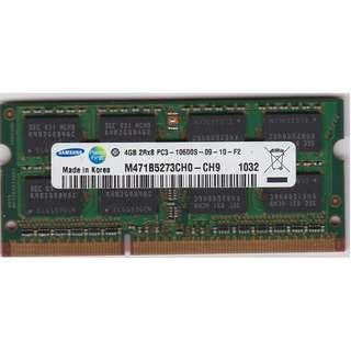 Used Samsung 4GB RAM DDR3-1333 SODIMM
