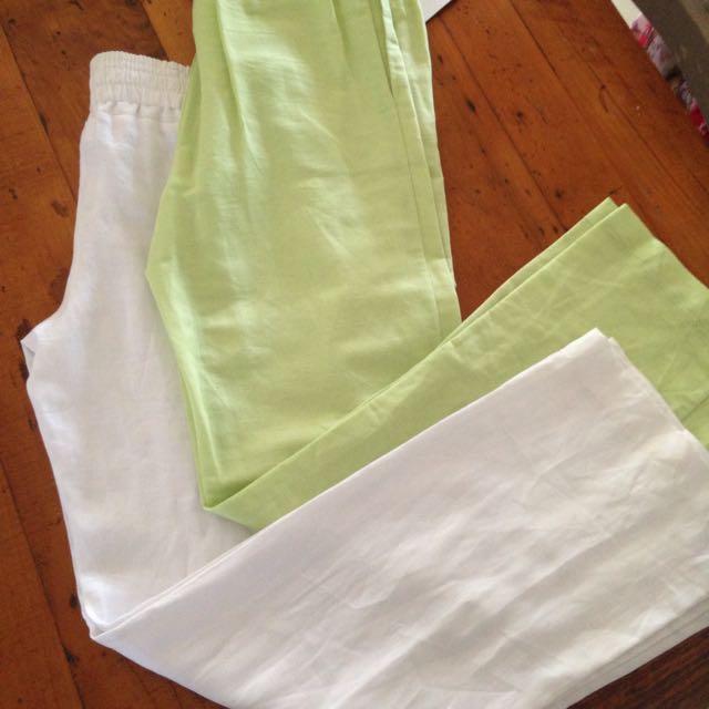 2 Pairs Linen Pants