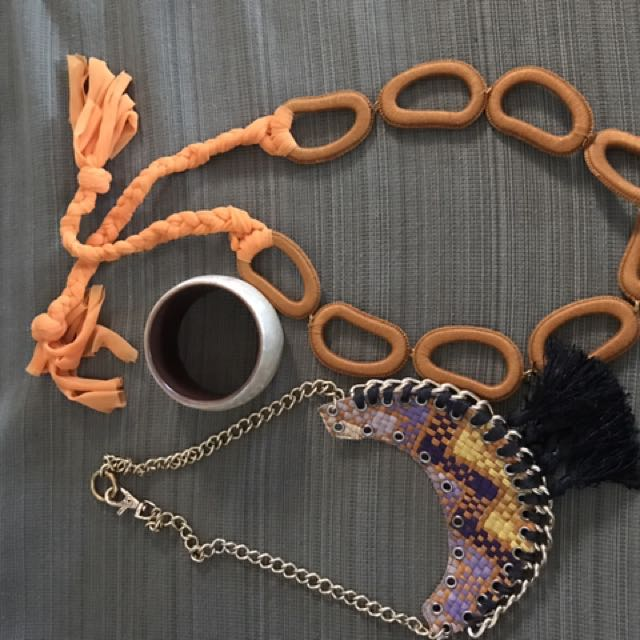 3-pc set Of Necklaces And Bangle